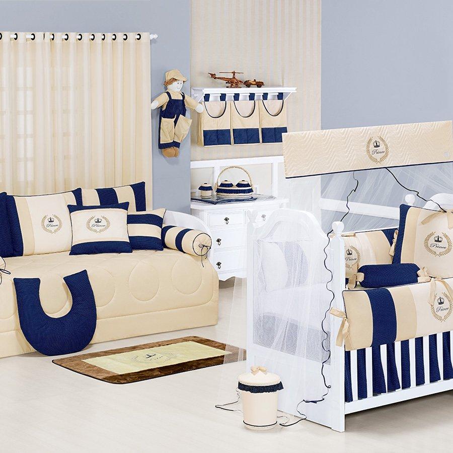 Quarto de Bebê Completo My Prince Marinho  Essencial Enxova