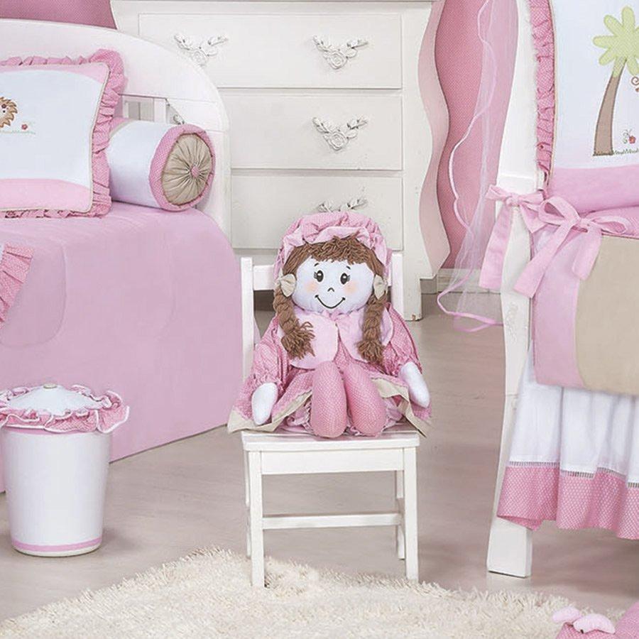 Enxoval De Menina ~ Boneca Para Quarto Enxoval Beb u00ea Menina Simba Rosa Essencial Enxovais