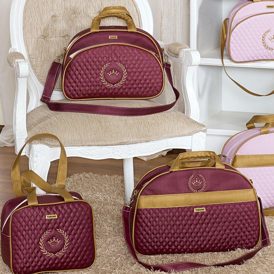 Bolsa De Festa Bordô : Conjunto de bolsas coroa bord? e dourado essencial enxovais