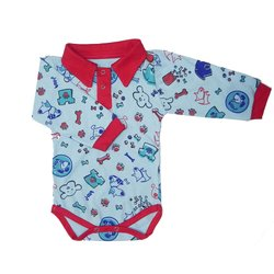 Body Bebê Manga Longa Love Dog Blue