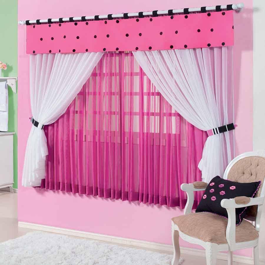 cortinas para quarto feminino tecido