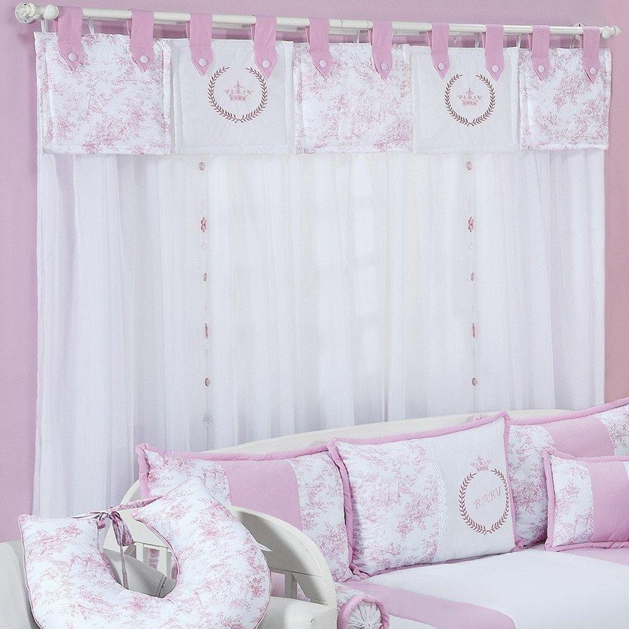 20170227083402_cortina Para Quarto De Bebe De Voil Beigit Com ~ Gesso Quarto De Casal Com Quarto De Princesa Rosa