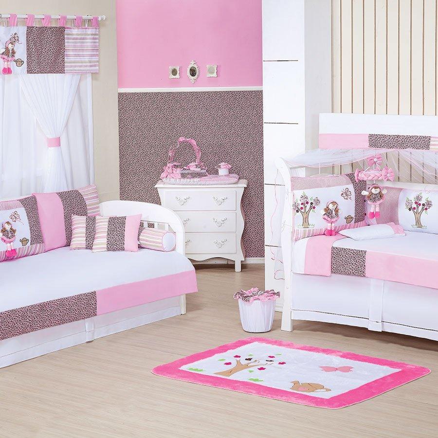 Ver Quarto De Bebê ~ Quarto Completo Enxoval Beb u00ea Menina Clarinha Rosa 100% Algod u00e3o Essencial Enxovais