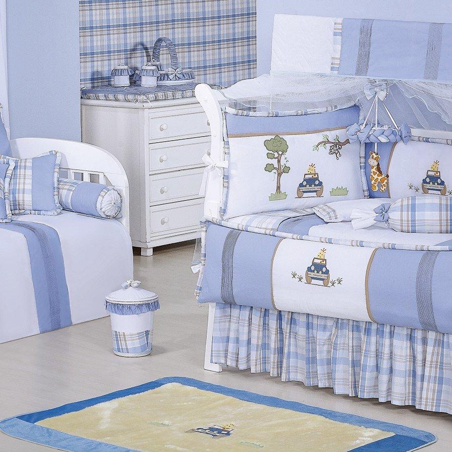 Tapete Para Quarto de Bebê Menino Jipe Palha Azul  ~ Tapete Para Quarto Azul