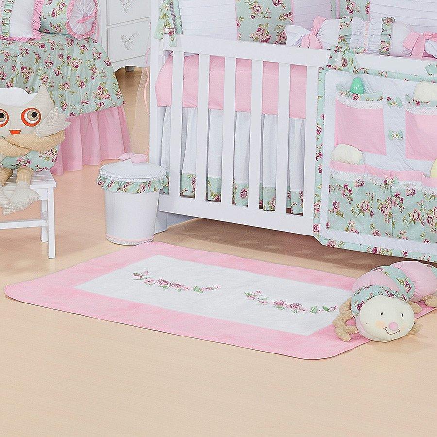 Tapete de Pelúcia Candy Antiderrapante Para Quarto de Bebê  ~ Tapete Rosa Quarto Infantil