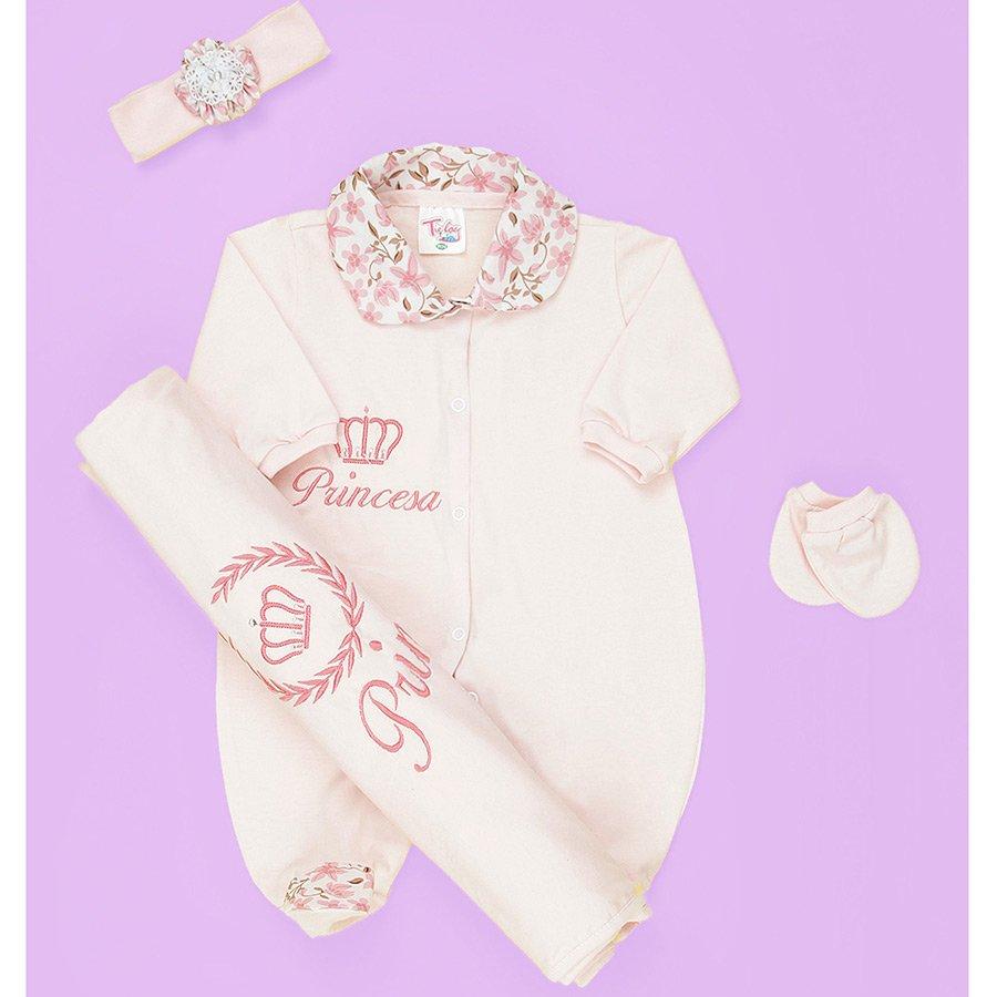 Saída de Maternidade Princesa Rosa Essencial Enxovais 2bbad02fcec