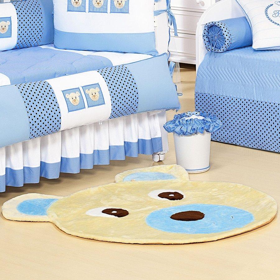 Tapete Para Quarto De Bebe Azul Redival Com ~ Tapetes Para Quarto De Menino E Foto Na Parede Do Quarto