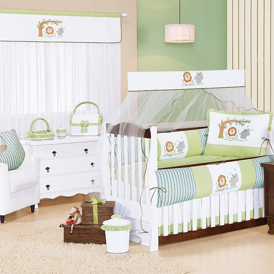 Quarto de Bebê Floresta Verde Essencial Enxovais ~ Quarto Pequeno Verde