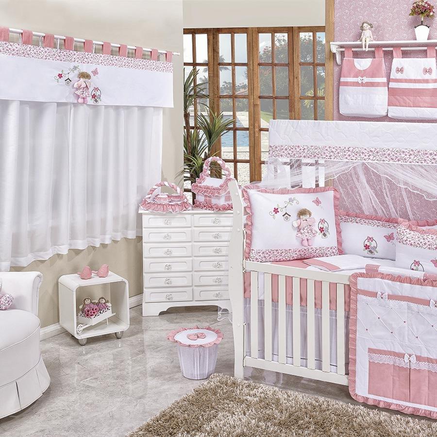 Quarto de Bebê Lelê Rosa Essencial Enxovais ~ Quarto Solteiro Completo Rosa