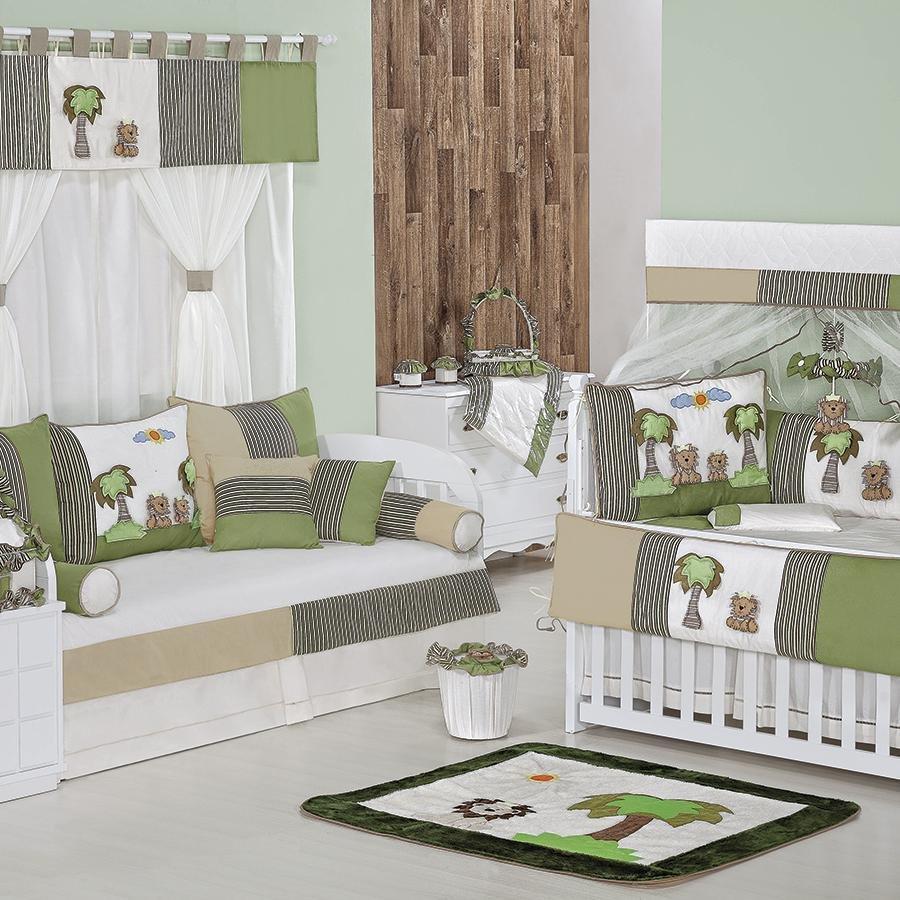 Quarto de Bebê S Bicama Reizinho Essencial Enxovais ~ Quarto Tema Verde