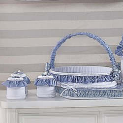 Cesta Decorada Ursos Friends Azul