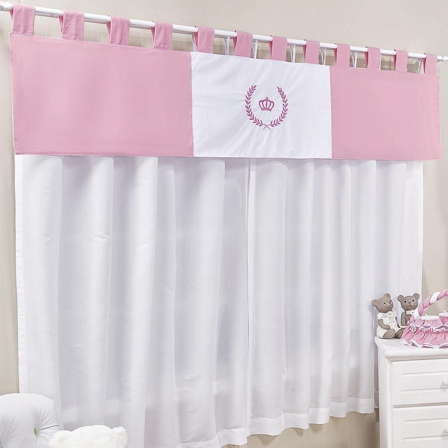 Cortina quarto de beb princesa lori essencial enxovais Cortina para bebe