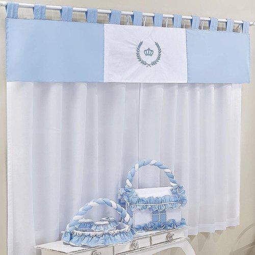 Cortina quarto de beb pr ncipe duque azul essencial Cortina para bebe