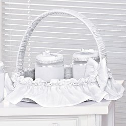 Cesta Decorada Imperial Branco