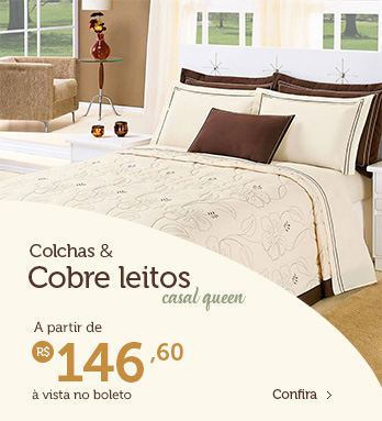 Colchas & Cobre Leito Casal Queen – à partir de R$ 146,60 (à vista no boleto)