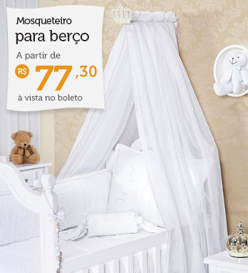Mosquiteiro para berço à partir de R$ 77,30 (à vista no boleto)