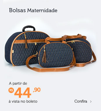 Bolsa maternidade à partir de R$ 44,90 (à vista no boleto)